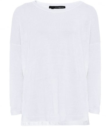 Linen Aruna Back Star Jumper