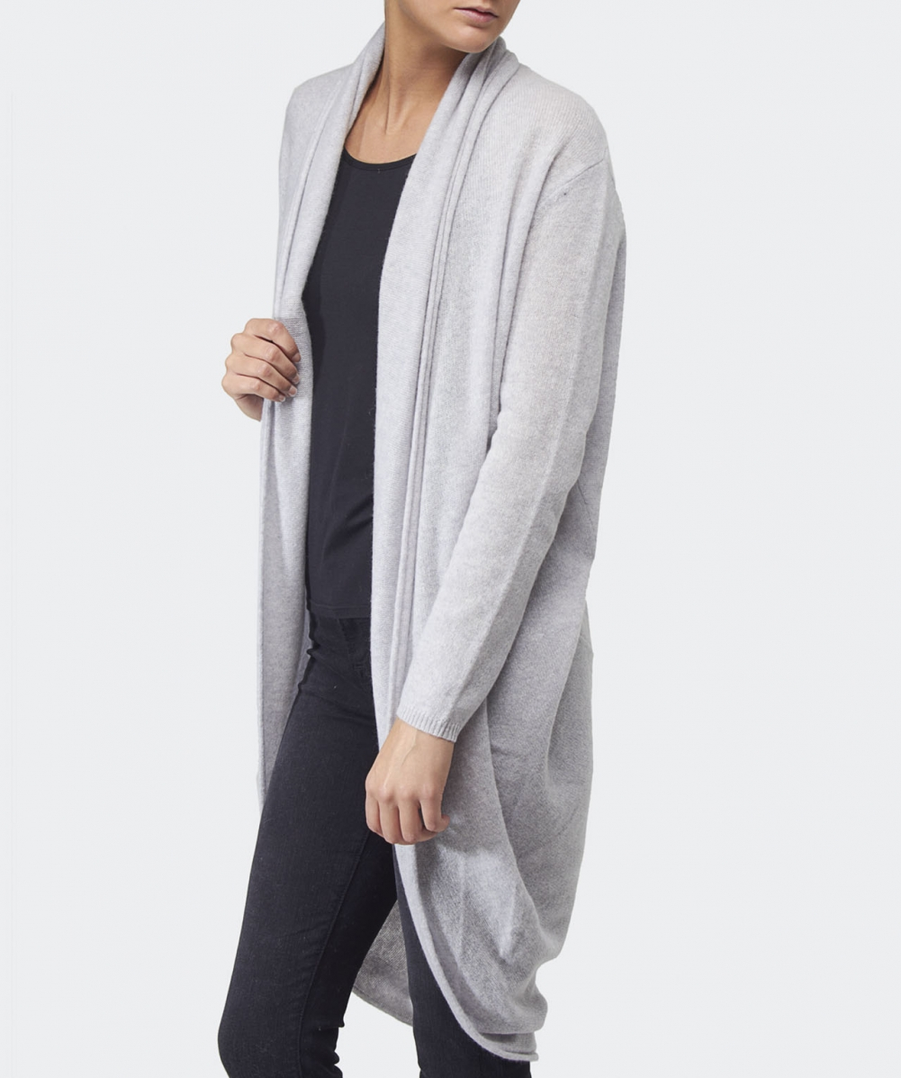 360 Sweater Long Drape Cashmere Cardigan Available At Jules B