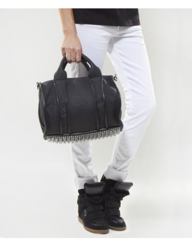 alexander wang rocco studded bowling bag available at jules b. Black Bedroom Furniture Sets. Home Design Ideas