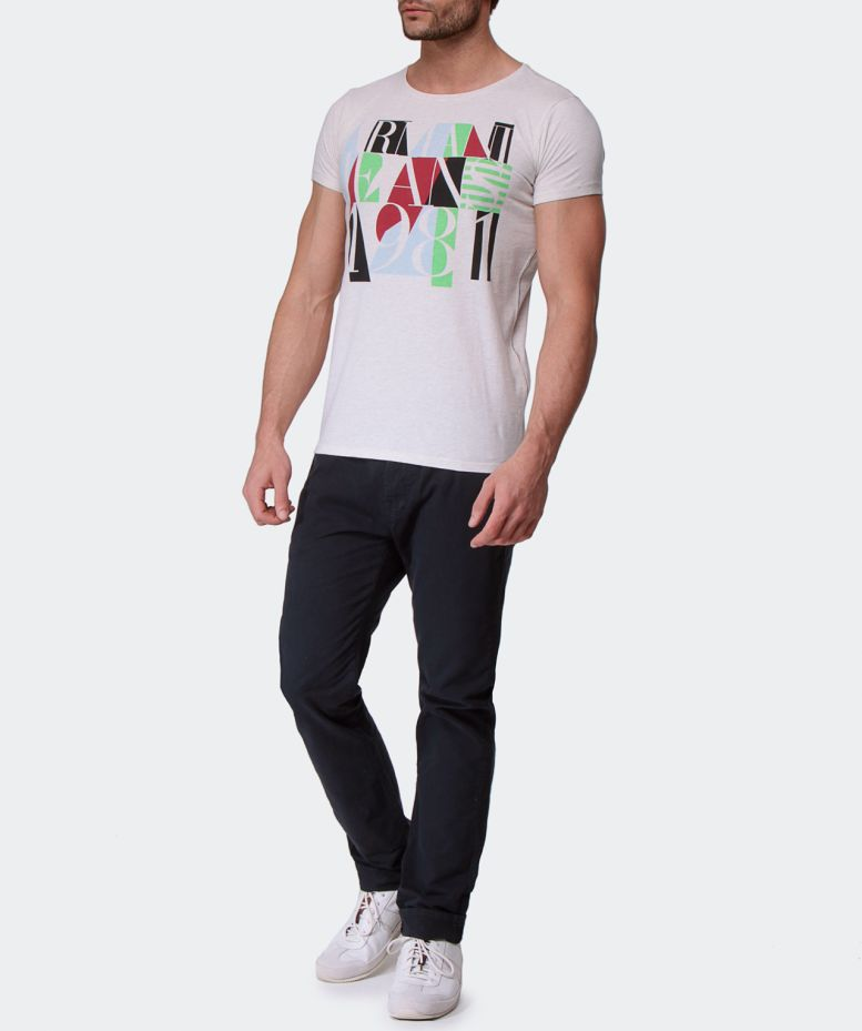 armani jeans 1981 t shirt available at jules b. Black Bedroom Furniture Sets. Home Design Ideas