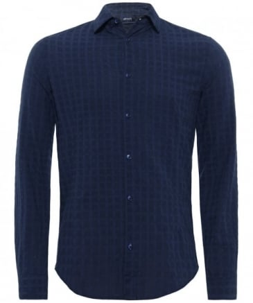 Slim Fit Crinkle Textured Shirt