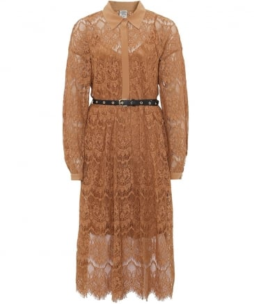 Aada Lace Shirt Dress