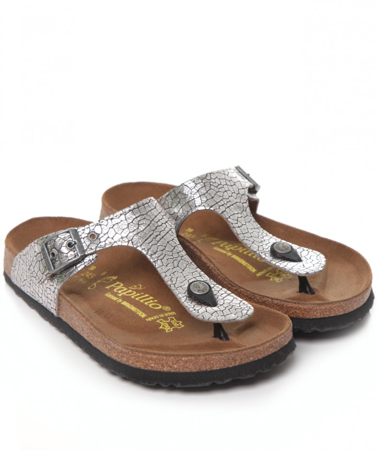 birkenstock papillio gizeh cracked sandals available at jules b. Black Bedroom Furniture Sets. Home Design Ideas