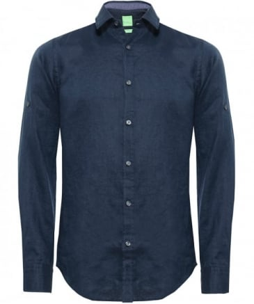 Regular Fit Linen C-Barbu Shirt