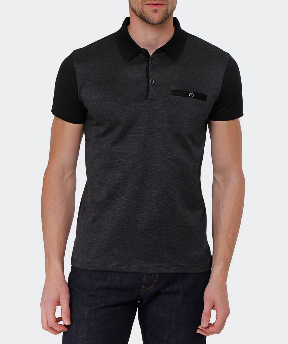 Hugo boss black slim fit mercerised ancona 21 polo shirt for Slim fit collared shirts