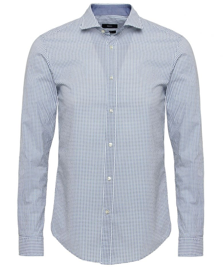 hugo boss blue slim fit ridley 2 shirt available at jules b. Black Bedroom Furniture Sets. Home Design Ideas
