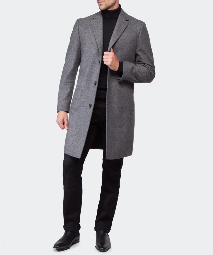 hugo boss black stratus overcoat available at jules b. Black Bedroom Furniture Sets. Home Design Ideas