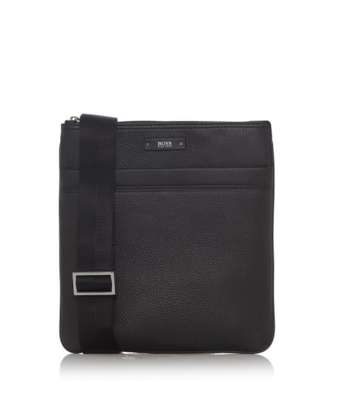 BOSS Leather Traveler_S Zip Bag