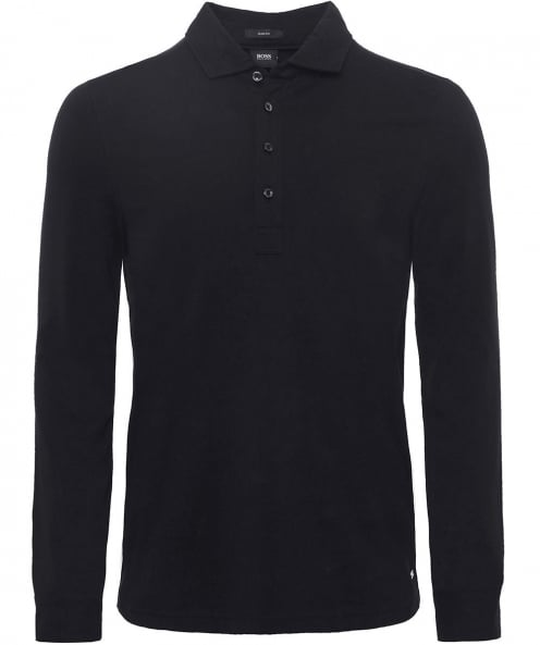BOSS Long Sleeve Paver 02 Polo Shirt