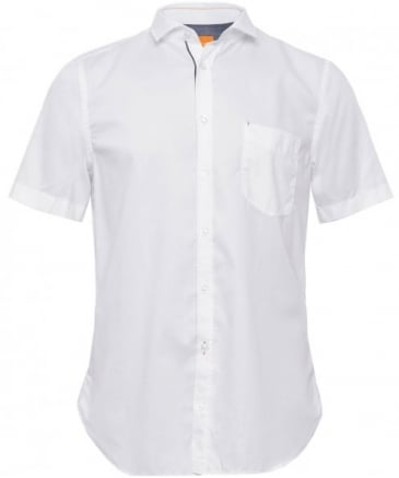 Slim Fit Linen Cattitude-Short Shirt