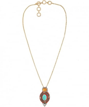 Beaded Columbia Road Pendant Necklace