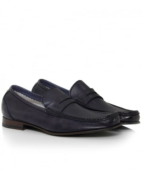 Calpierre Leather Linea Tubolare Loafers