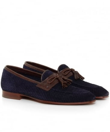 Suede Weaved Kampur Loafers