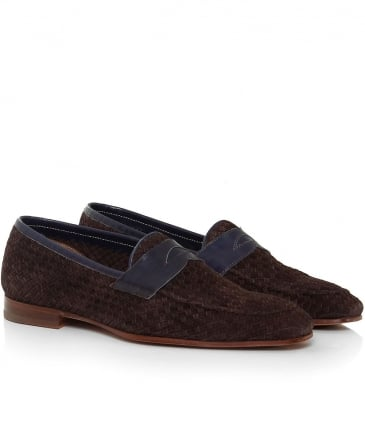 Suede Weaved Trecam Loafers