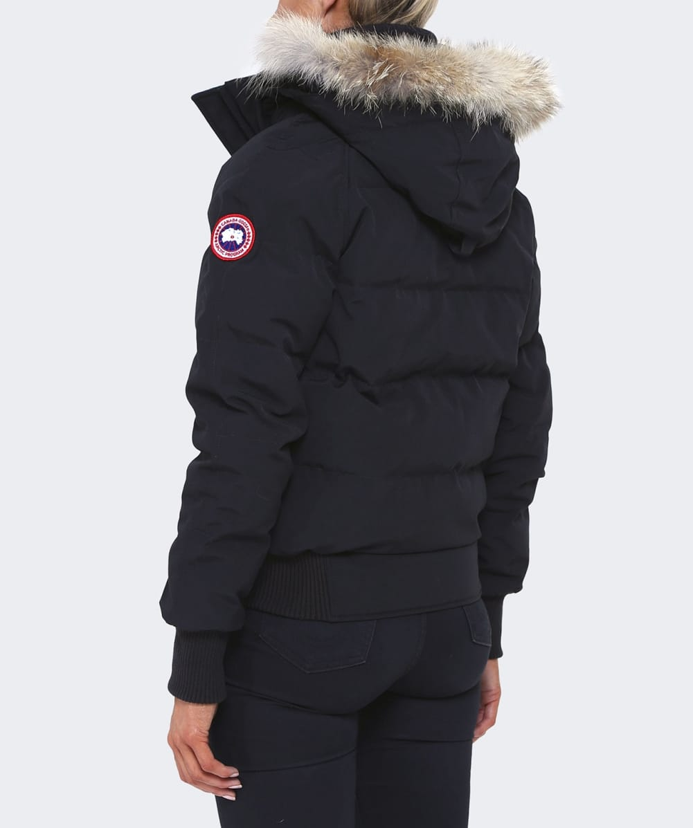 canada goose black savona bomber jacket jules b. Black Bedroom Furniture Sets. Home Design Ideas