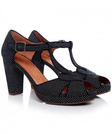 Giki Polka Dot T-Bar Heels