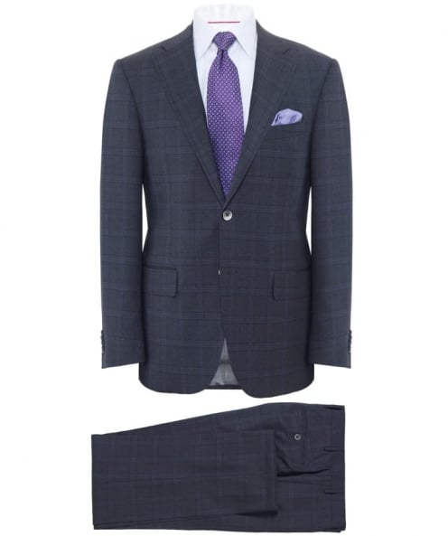 Extrafine Virgin Wool Check Suit