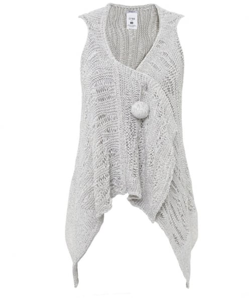 Open Knit Crochet Cardigan
