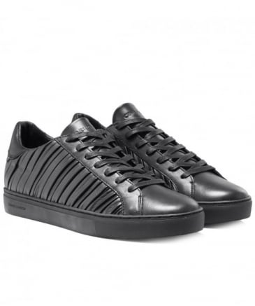 Pleated Leather Beat Trainers