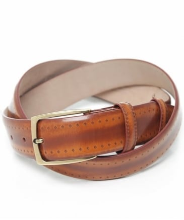High-Shine Cordovan Leather Belt