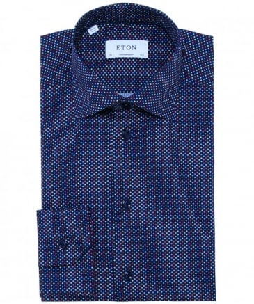 Contemporary Fit Dot Twill Shirt