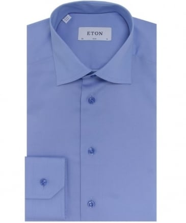 Slim Fit Pin Dot Satin Shirt