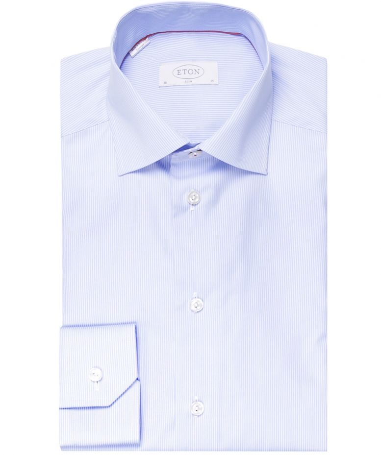 Eton Blue Slim Fit Striped Shirt Available At Jules B
