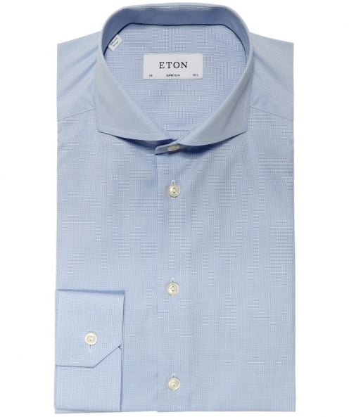 Super Slim Fit Micro Houndstooth Shirt