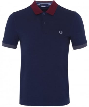Colour Block Pique Polo Shirt