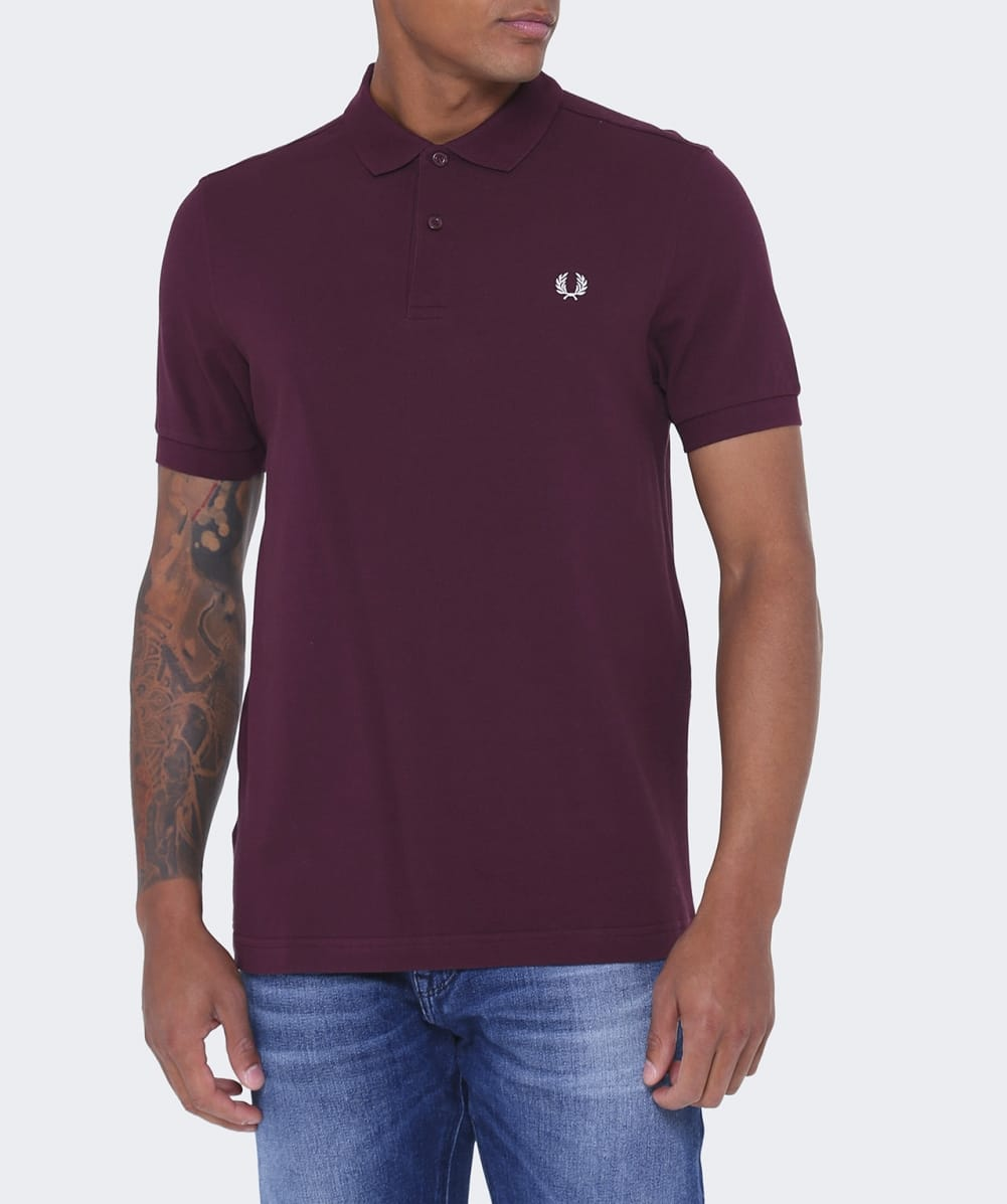 Fred perry mahogany slim fit polo shirt jules b for Slim fit collared shirts