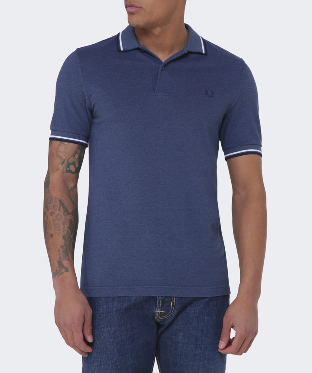 Fred perry slim fit twin tipped polo shirt jules b for Slim fit collared shirts