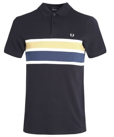 Stripe Panel Polo Shirt