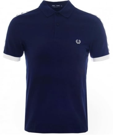 Taped Pique Polo Shirt