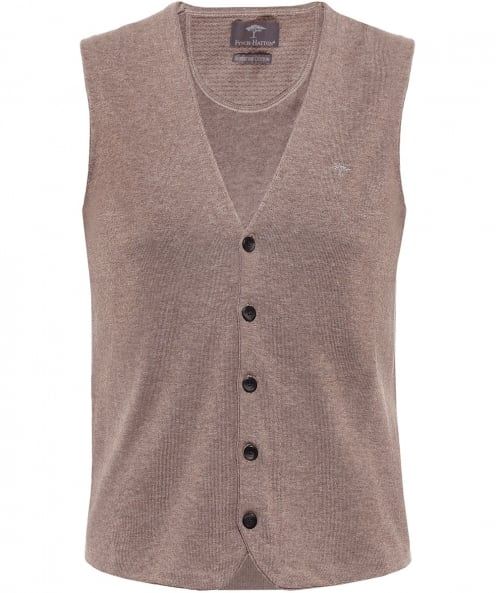 Fynch-Hatton Knitted Cotton Waistcoat