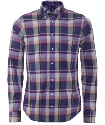 Fitted Broadcloth Plaid Heather Shirt