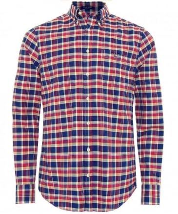 Regular Fit Plaid Oxford Shirt