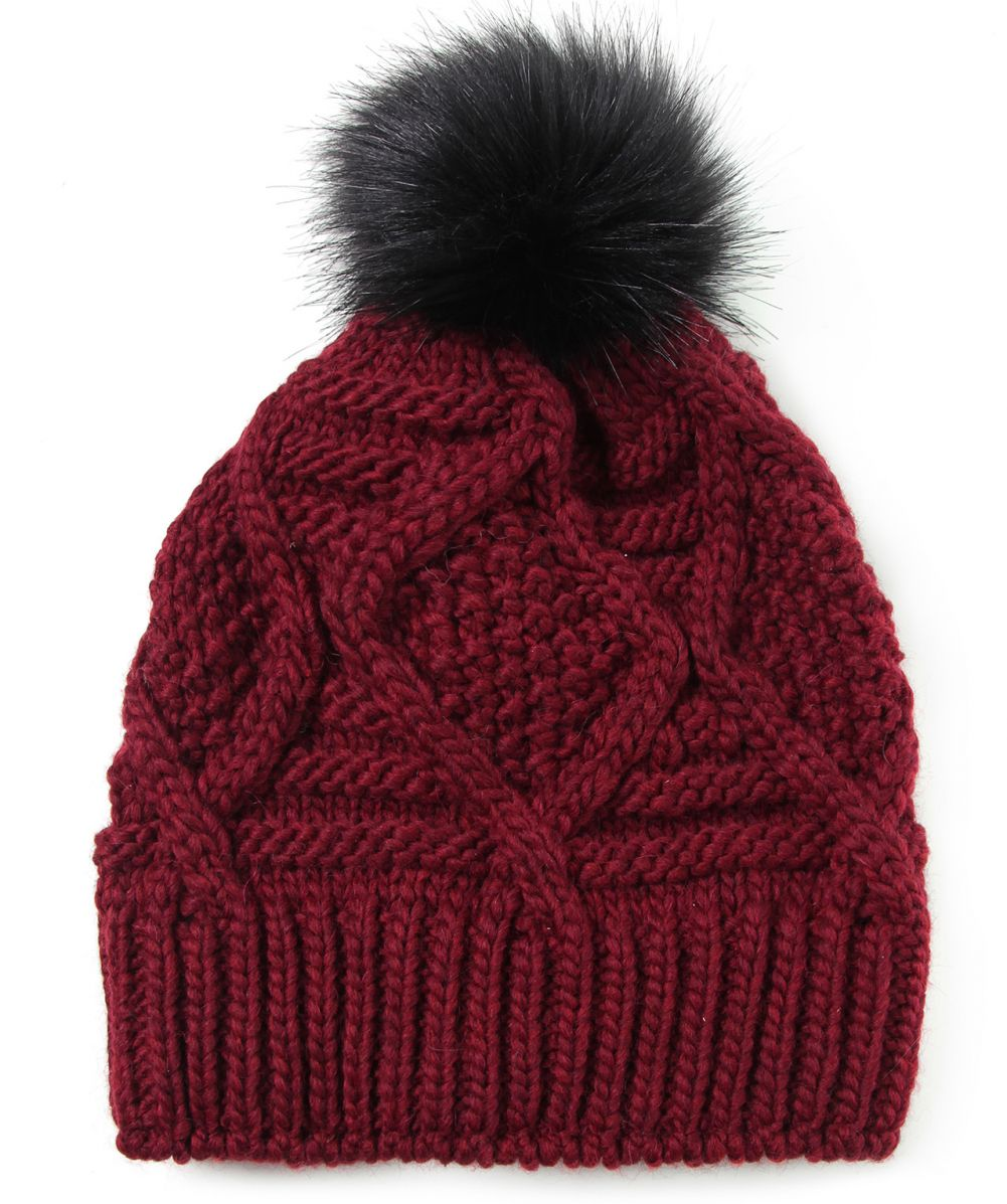 Cable Knit Bobble Hat Pattern : Gebeana Cable Knit Bobble Hat available at Jules B
