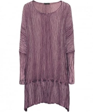 Oversized Ribbed Silk Top