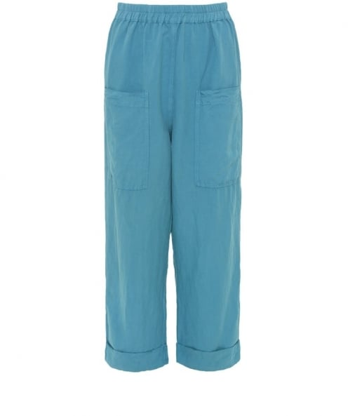 Silk Turn Up Trousers