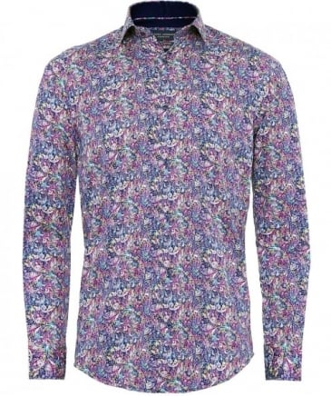 Cotton Sateen Paisley Shirt