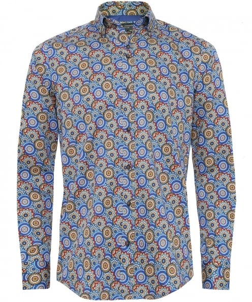 Guide London Cotton Sateen Retro Shirt