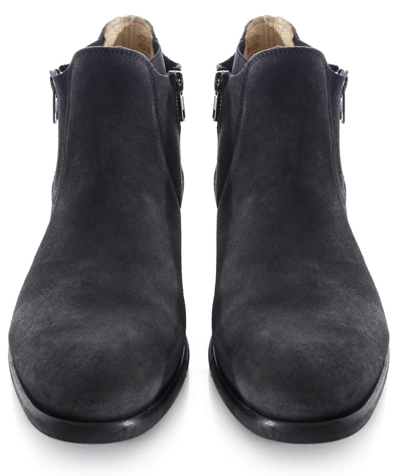 h by hudson grey mitchell suede boots jules b