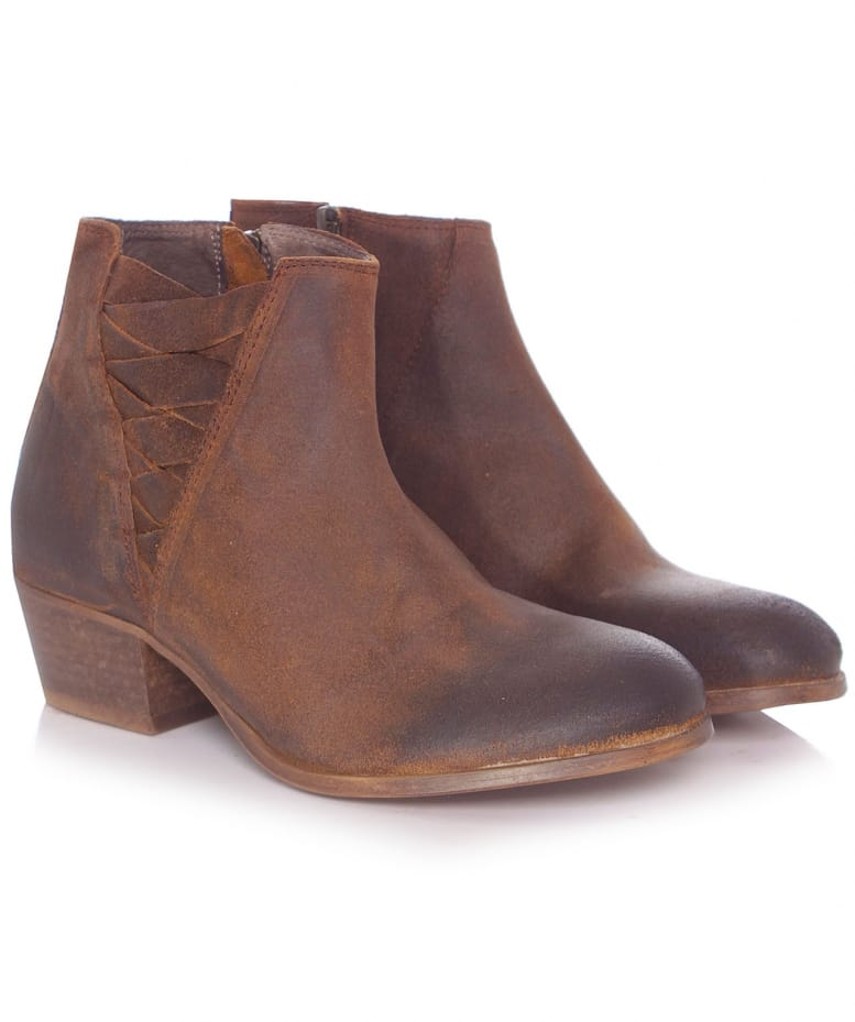 h by hudson tobacco suede ankti boots jules b