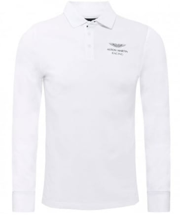 Classic Fit Aston Martin Racing Long Sleeve Polo Shirt
