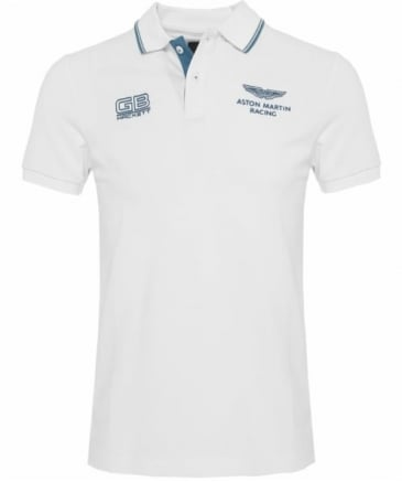 Slim Fit Aston Martin Racing Twin Tipped Polo Shirt