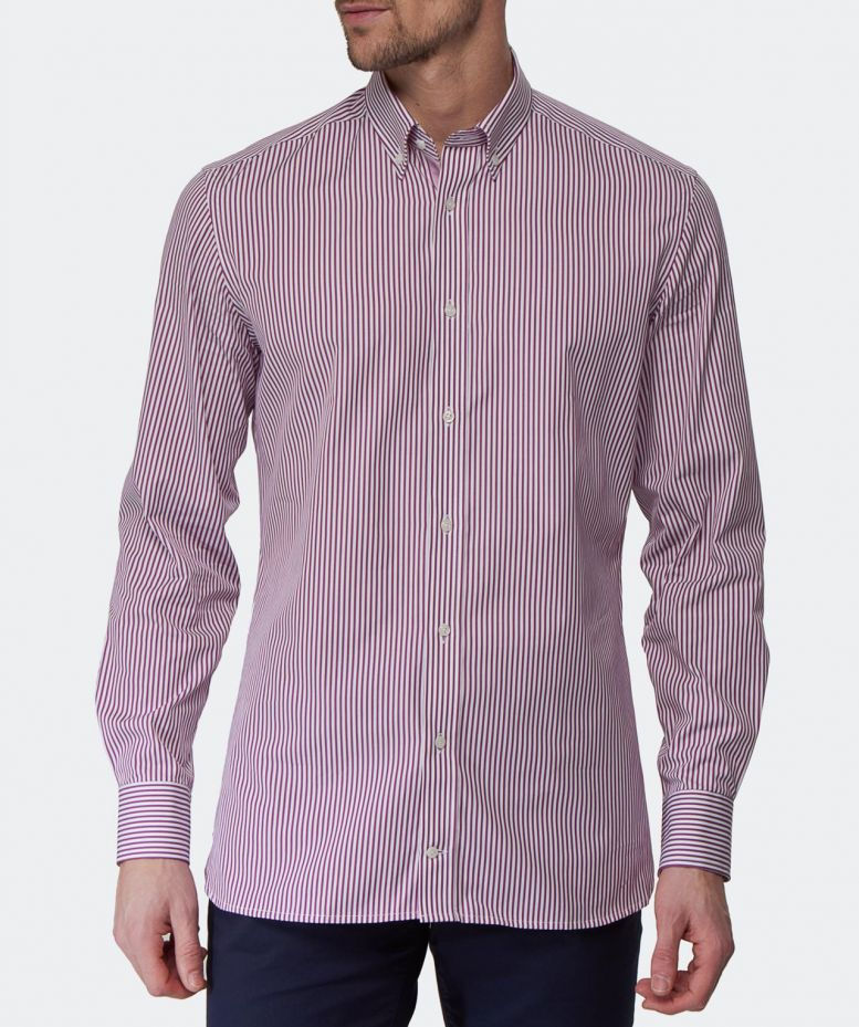 Hackett tailored fit striped shirt available at jules b for Tailored fit shirts meaning