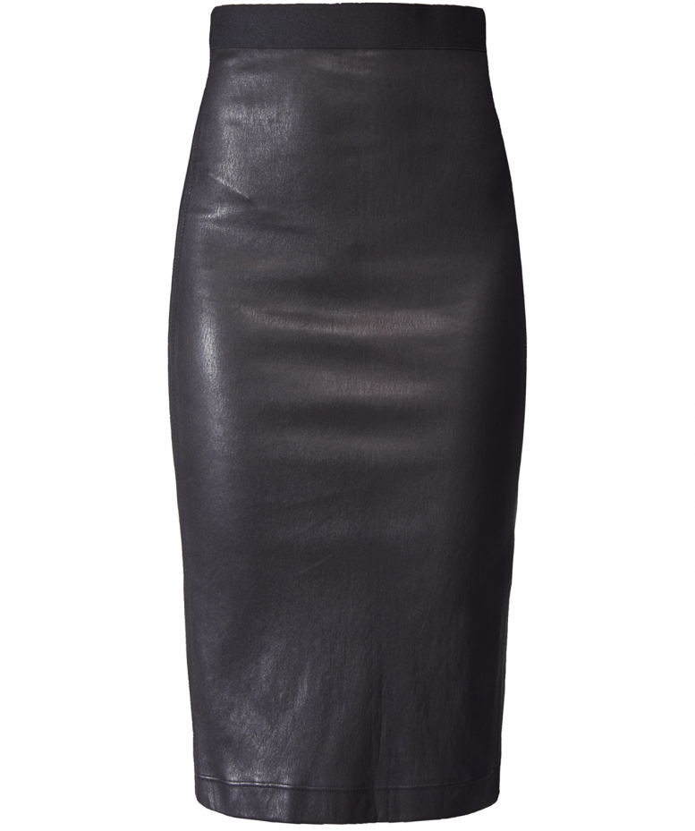 helmut lang stretch leather skirt available at jules b