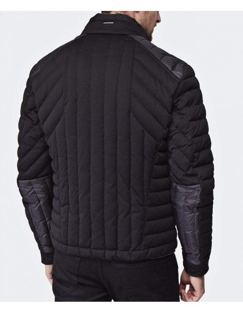 hugo boss green jessino quilted jacket available at jules b. Black Bedroom Furniture Sets. Home Design Ideas