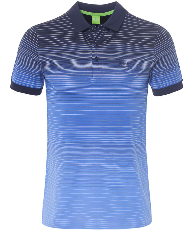 Hugo boss blue paddy3 stripe polo shirt available at jules b for Hugo boss green polo shirt sale