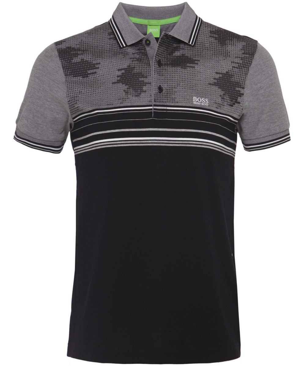 hugo boss green paule camo polo shirt available at jules b. Black Bedroom Furniture Sets. Home Design Ideas